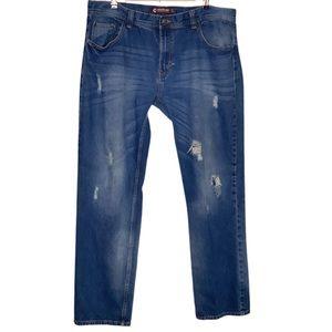 Academiks Men's Distressed Jeans 40x34